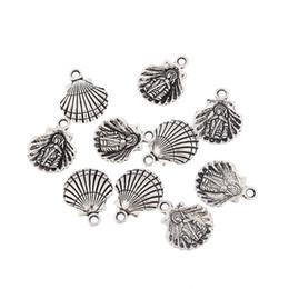 2019 bracciale di seashell diy 10 pz argento antico uomini persone clam shell seashell in lega di fascini del pendente misura collana bracciale gioielli fai da te risultati bracciale di seashell diy economici
