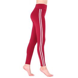 Argentina Diseñador a rayas para mujer Leggings Deportes Capris de cintura alta pantalones de yoga activos Sexy Skinny Ladies Fashion Pants Suministro