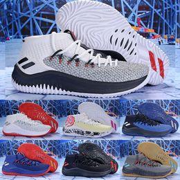 7e94889f2a50 2018 New D Lillard 4 Scarpe da Basket Dame 4 Rip City Bianco Nero Rosso  Un-Dyed Signature Sport For Men Sneakers di marca Scarpe da ginnastica 7-12  ...