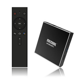 elenco completo Desconto MECOOL KM1 ATV Android 9.0 Caixa de TV Inteligente 2G 16G 4 K HDR Home Google Play Fundido Ultra HD Caixa de TV USB 3.0 Media Player Controle de Voz