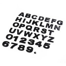 2019 etiquetas do metal do cromo 3D Emblema De Metal Adesivos de Carro 39 Pcs Carta Número Digital H2.5 Cromo DIY Car Styling Emblema Logotipo Automóvel Motocicletas Adesivos etiquetas do metal do cromo barato