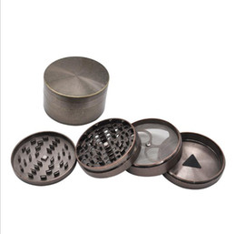 fumatori Sconti Smoke Grinder of Super Large Materiale in lega di zinco con diametro di 100 mm e 4 strati