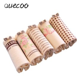 Wholesale QUECOO шт лот сочетание набор симпатичные сексуальная кожа клубника нижнее белье хлопок удобные дышащие женское нижнее белье брюки