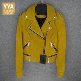 Gelb Dame Leder Motorrad Frauen Luxus Weibliche Echtes Mantel Blau Jacken Heiße Kurzen Schweinslederjacke Natürliche Hübsche jpGSMLzqUV