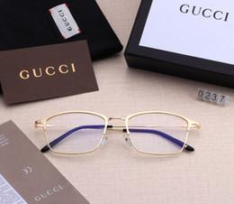 Occhiali da donna lente chiara online-[Con Box] Gucci Light Blue Occhiali da Donne obiettivo chiaro Sport Occhiali da sole degli uomini degli occhiali Lentes Womens Sun Eye Glass Sunglass SGC135