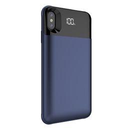 Максимальное зарядное устройство для аккумулятора онлайн-5000/5500mAh питания Банка батареи зарядное устройство чехол для iPhone Х ХС хз Макс зарядный чехол powerbank зарядное устройство чехол внешний беспроводной