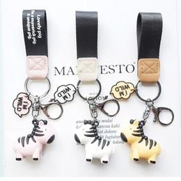 jóias zebra Desconto Couro novo dos desenhos animados Adorável Zebra Keychain Chaveiro Pulseira Key cavalo animal Cadeia Titular Bag Mulheres Charme Pendant Jewelry