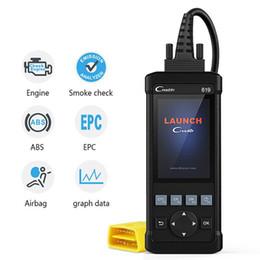 2019 sensori o2 OBD2 di codice del lettore di CR619 motore ABS SRS O2 sensore di monitoraggio Auto diangostic OBD 2 Auto Scanner sensori o2 economici