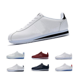 Discount cortez shoes - Unisex Spring autumn Classic Cortez Leather casual  shoes for men sneaker trendy ef86aecd2