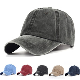 black water hat Promo Codes - VORON hot sale Adjuable Cotton hat snapback cap baseball caps outdoor casquette Fashion Water wash Jeans hat hip hop sun hats