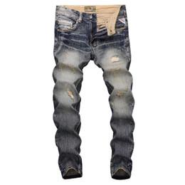 01ee2dec9d98 jeans pantaloni disegni ricamo Sconti Moda Uomo Streetwear Jeans Jeans slim  fit strappati strappati per uomo