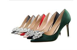 Señoras elegantes zapatos de boda online-Elegantes zapatos de tacón alto de cuero de las mujeres en punta del dedo del pie puntiagudo de la boda de la noche vestidos de fiesta zapato Mujeres Sexy Ladies Negro Bombas Zapatos de boda