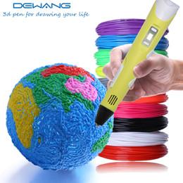 2019 ugello di stampa 3d DEWANG Penna di stampa 3D per bambini Bambini Disegno Penna ABS PLA filamenti Display LCD Schermo ugello 3 d Scribble maniglia in plastica sconti ugello di stampa 3d