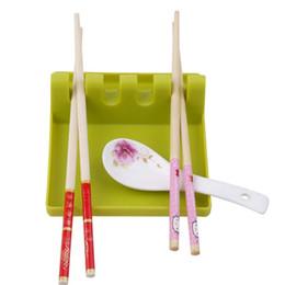 Spatule en plastique en Ligne-Vente chaude En Plastique Soupe Spoon Holder Paddle Spatula Rack pour Ustensiles De Cuisine Cuisson Spatule De Stockage Pour La Cuisine livraison gratuite