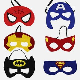 Máscaras princesa crianças on-line-Super-herói Máscara Cosplay Superman Batman Spiderman Hulk Thor IronMan Princess Party Adulto de Natal dos miúdos Halloween Trajes Máscaras