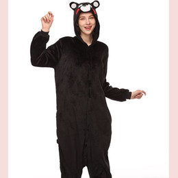 2021 bande dessinée kumamon Adulte Onesie Anime femmes Costume Kumamon ours Halloween cosplay Cartoon animaux de nuit d'hiver chaud à capuchon pyjama