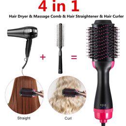 Bocal de porcelana on-line-4 em 1 secador de cabelo e escova de ar quente rotativa Gerador de íons negativos Girar Styler Modelador de cabelo Modelador de cabelo