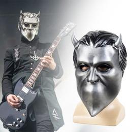 máscaras de celebridades de estados unidos Rebajas Ghost B.C Máscara Cosplay Fantasma sin nombre Ghoul Máscara Rock Roll Band Cosplay Disfraz Latex Mascarada facial del partido Decoración