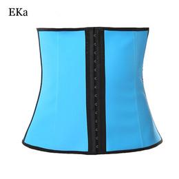 cintura disossata in lattice Sconti 4 Steel Bone waist trainer 100% latex modellazione corsetti in acciaio dimagrante guaina pancia cincher Shapewear ridurre cintura cintura
