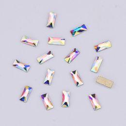 10 pz nail crystals rettangolo 3x7mm posteriore piana decorazione unghie pietre unghie art dekor diamanti manicure decoracion YHA166 cheap diamond stones decoration da pietre diamanti decorazione fornitori