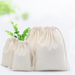 Plain draw string taschen online-10x15 baumwolle Natürliche Baumwolle Plain Kordelzug Lagerung Wäsche Schuh Spielzeug Reise Sachen Ordentlich Tasche Handgemachte Baumwolle Leinwand Kordelzug Aufbewahrungstasche