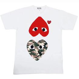 t-shirts drôles Promotion Femmes Hommes Marque Tshirts 2019 Hommes D'été Chemise Tees À Manches Courtes De Mode Coeur Imprimer Drôle Top Tees