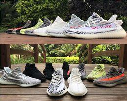V2.0 Kanye West 2019 zapatos para correr de alta calidad Mantequilla Sesamo Zebra Crema Blanco Negro Bred Naranja Gris Rayas Zapatillas EUR36-47 desde fabricantes