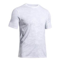Mais novo dos homens Pro Malha Respirar Ginásio de Fitness Esportes Top Running T-Shirt Camisa de