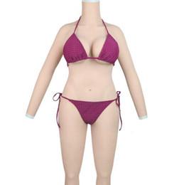 Cuerpo de silicona vagina online-Travesuras de silicona transgénero formas de todo el cuerpo de travestis trajes con brazos falsos pechos vagina falsa penetrable para crossdresser
