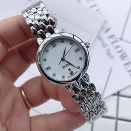 2019 стиль часы девушки Топ марка стали 316L Женские платья Женские часы De Ville Браслет Стиль циферблат Роскошные часы 28MM Кварцевые наручные часы для женщин Girl relojes дешево стиль часы девушки