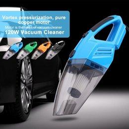 Подержанные зеленые автомобили онлайн-Автомобильный пылесос Главная Портативный 120W пылесос Wet Dry двойного использования Пылеуловитель черный / оранжевый / зеленый / синий