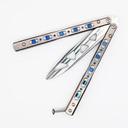 Wholesale Flytanium BM51 OSP V3 D2 Titanium butterfly trainer training knife не острые ремесла коллекция боевых искусств knvies рождественский подарок