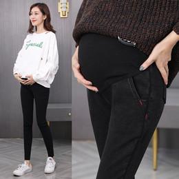 ropa de talla grande Rebajas Nuevo Pantalones vaqueros de mezclilla Pantalones de maternidad Ropa de mujer embarazada Pantalones vaqueros del embarazo Ropa de maternidad negra Pantalones Tallas grandes