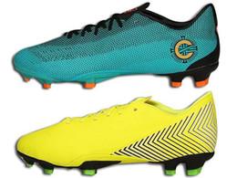 Sistema verde online-Assassin 12 FG Football Boots Green Yellow Designer Sistema de velocidad Mercurial a prueba de agua Zapatos de fútbol de calidad superior con caja