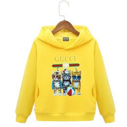 Korean roupas de bebê marcas on-line-Marca camisola crianças camisola nova padrão meninos menina edição coreana roupas infantis em uniforme cap baby clothing