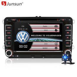 2019 passat tv Junsun 2 din player multimídia do carro DVD GPS para Volkswagen Golf 5 6 Passat B6 B7 Touran polo Tiguan seat leon Altea automotivo desconto passat tv