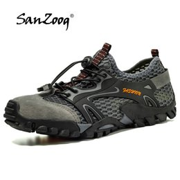 escursioni di scarpe da arrampicata su roccia Sconti Sanzoog summer Hiking Shoes Uomo Outdoor Trekking Shoes Anti-Skid Arrampicata su roccia Tracking Outventure Mountain