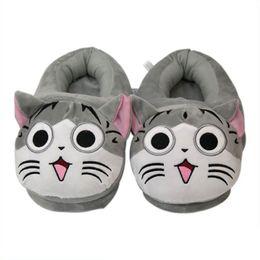 sapatos olá Desconto Olá Kitty Chinelos engraçado Chinelos gato lindo de pelúcia interior Sapatas macias dos amantes Piso sapatos inverno quente Mulheres Slides