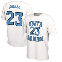 2020 t-shirts de danse NCAA North Carolina Tar Heels T-shirt 15 Carter The Last Dance 23 Michael MJ Mens T-shirts Collège Blue Tops T-shirts imprimés de basket-ball t-shirts de danse pas cher
