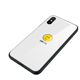 Capas de telefone de sorriso on-line-Syj1 sorriso feliz vidro temperado para a apple phone case iphone xs max7 / 8 / 6plusxr