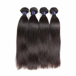 2019 onda capelli oceano indiano vergine Capelli umani vergini brasiliani tesse dritto 4 pz / lotto malese estensione dei capelli umani remy 4 pacchi lotto a buon mercato capelli trame dritto