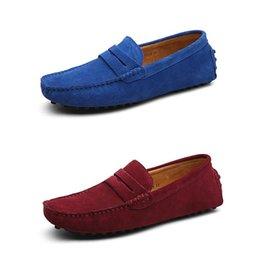 zapatos de pozos Rebajas 2020 nuevos hombres zapatos casuales alpargatas por mayor bien de castaño negro amarillo gris entrenador masculino zapatilla de deporte suave dropshipping caminar al aire libre roja
