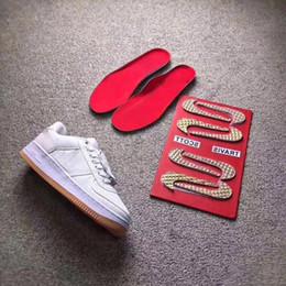 Nike Air Force 1 x Travis Scott Top Qualité Air Travis Scotts Voile 3 Un 1s 3 M Hommes Designer Chaussures Blanc Baskets Formateurs 1 Dunk Toile Skate chaussures Avec Boîte ? partir de fabricateur