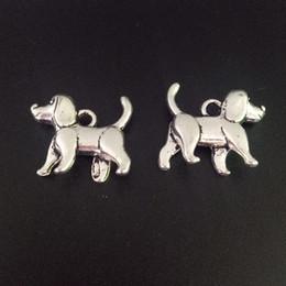 100 шт. Подвески Tiny Dog Pet 3D Тибетские Серебряные Бусины Подвеска Для DIY Ювелирных Изделий Ремесло Браслет Выводы Ожерелье 15 * 15 мм от