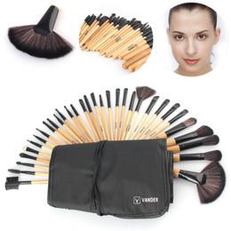 наборы инструментов для волокон Скидка 32шт макияж кисти набор косметики тени для бровей Фонд порошок волокна косметические кисти составляют наборы инструментов мешок GGA1897