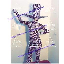 Костюм зебры Бар Ночной клуб Вечеринка черно-белая полоса зебры Gogo сценический танец одежда боди шляпа головные уборы cheap zebra dance wear от Поставщики одежда из зебры