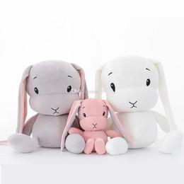 Super elástico macio on-line-novos estilos 30 centímetros bonito coelho de pelúcia brinquedo cristal elástica boneca coelho super macio bebê que acompanha dormir dom brinquedo para crianças