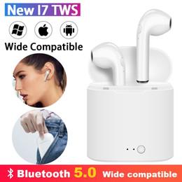 fone de ouvido bluetooth oppo Desconto i7 Auscultadores sem fios Hifi Bluetooth Earphones Desporto auriculares Handsfree Gaming Headset com carregamento pontos Caixa de Ar Para Xiaomi