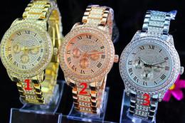 volle kristallfrauenuhren Rabatt Mode Uhren Michael-Quarz-Uhr-beiläufige voller Stahl Dial Style Frau über den ganzen Himmel Sterne Kristall-Diamant-Rom Wort Wählscheibenstil Uhren