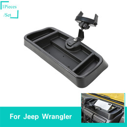 internal phones Coupons - ABS Black Mobile Phone Bracket For Jeep Wrangler TJ 1997-2006 Second Generati Factory Outlet Auto Internal Accessories